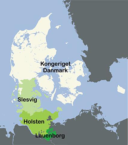 Preussen og Østrig indvaderede Danmark og fratog hertugdømmerne Slesvig og Holsten.