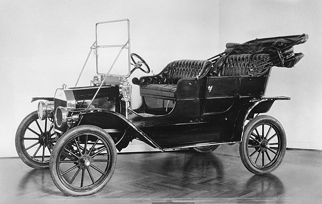 The model T is built by Henry Ford
