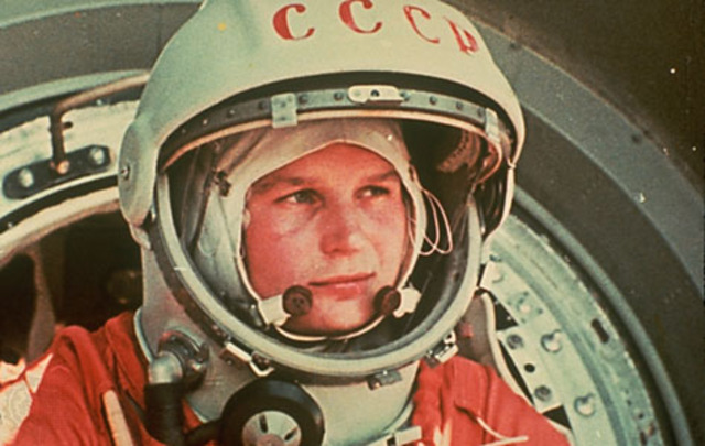 First woman in space.
