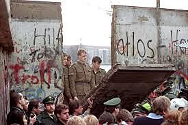 The Berlin Wall is torn down and the Cold War ends.