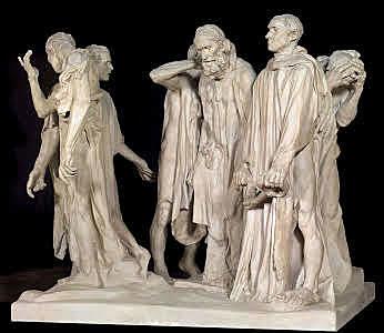 Los burgueses de Calais, Rodin