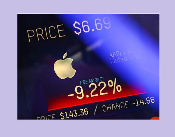 Los ingresos de Apple se desploman