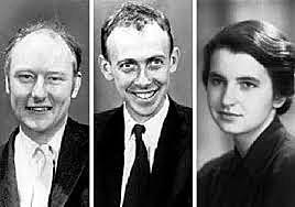 James Watson, Francis Crick et Rosalind Franklin