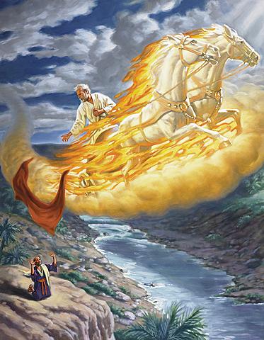 Elisha succeeds Elijah as prophet