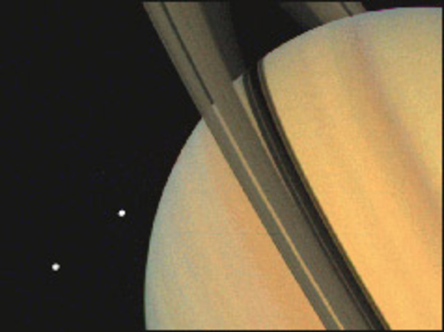 Saturn's rings caught on film