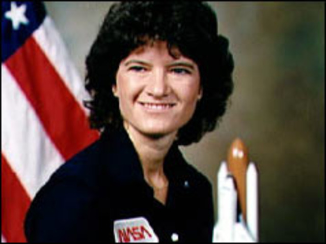 US astronaut Sally Ride returns