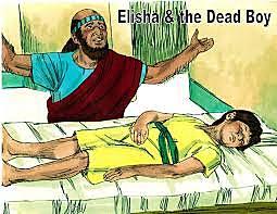 Elisha raises a Shunamite boy.