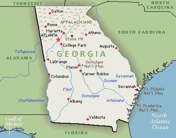Georgia seceeds from Union