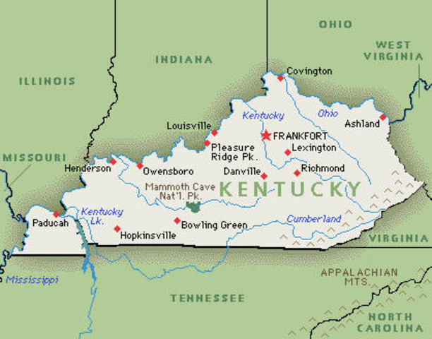 Kentucky seceeds from Union