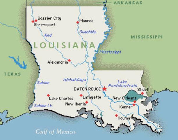 Louisiana seceeds from Union