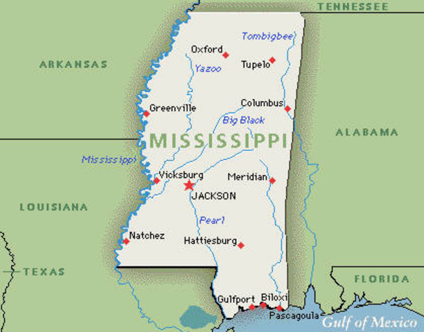 Mississippi seceeds from Union