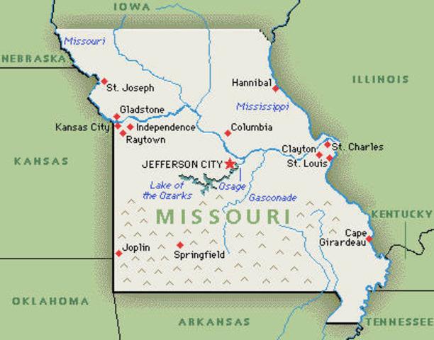Missouri seceeds from Union