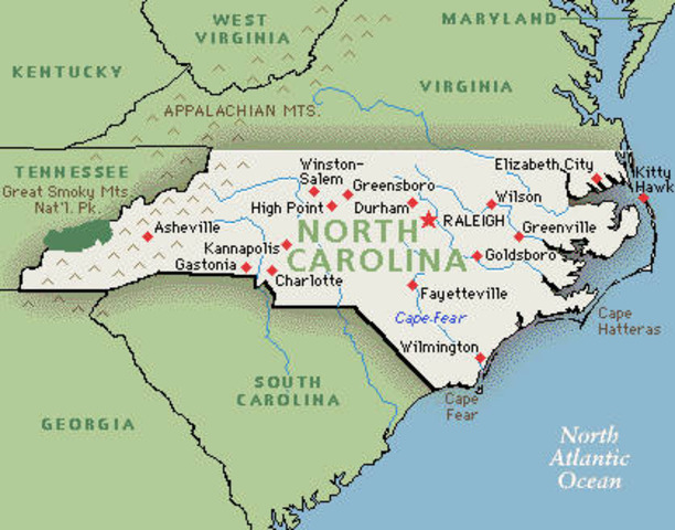 North Carolina seceeds from Union