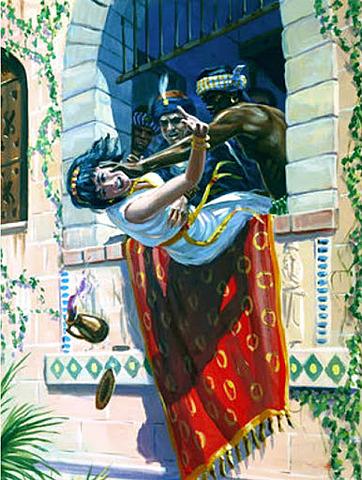 Jehu commands Jezebel to be Killed