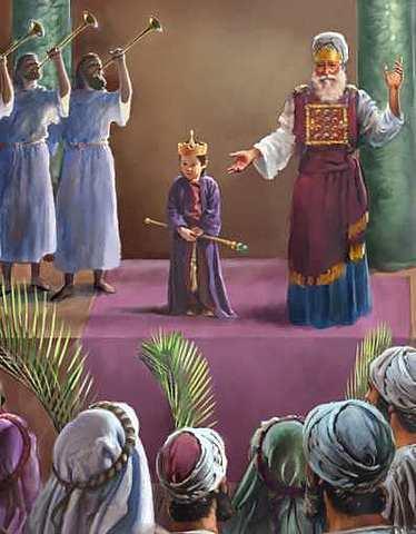 Joash becomes king of Judah