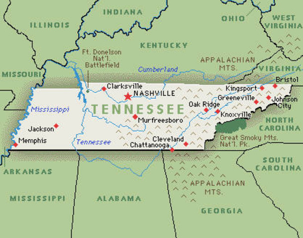 Tennessee seceeds from Union