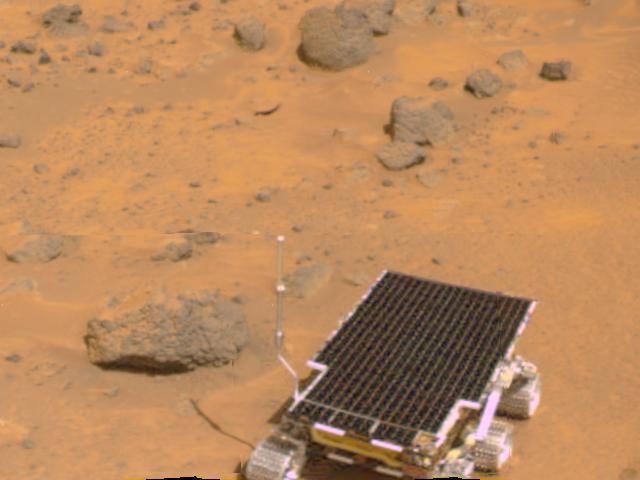 Pathfinder lands on Mars