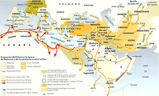 Expansión del Islam.