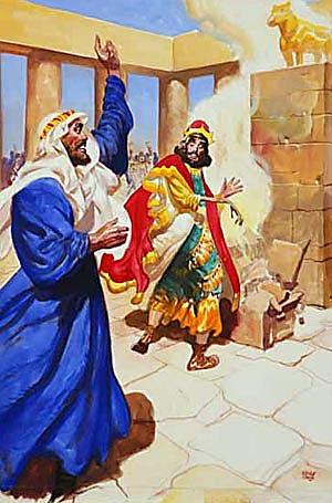 A Man of God confronts Jeroboam