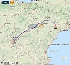 Ave de Lleida a Madrid