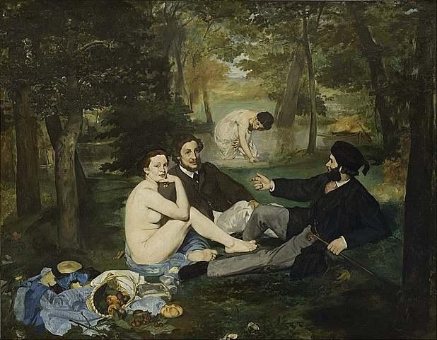 'Almuerzo sobre la hierba' de Manet