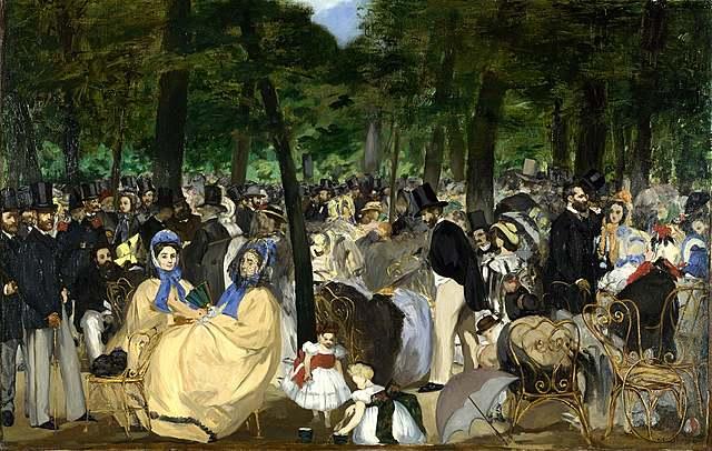 'La música en las tullerías' de Manet