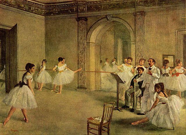 'El foyer de la danza en la Ópera' de Degas