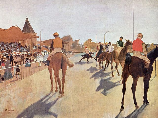 'El desfile' de Degas