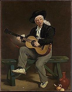'El guitarrista español' de Manet