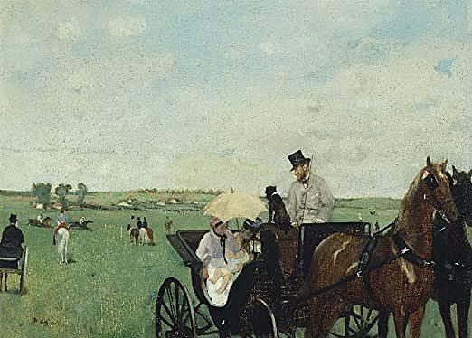 'En las carreras en el campo' de Degas