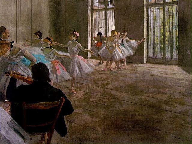 'La repetición' de Degas