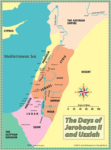 Jeroboam II becomes king of Israel