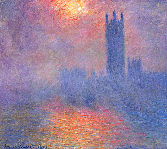'El parlamento de Londres' de Monet
