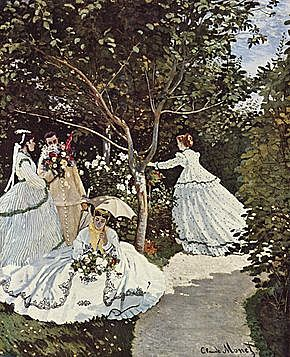 'Mujeres en el jardín' de Monet