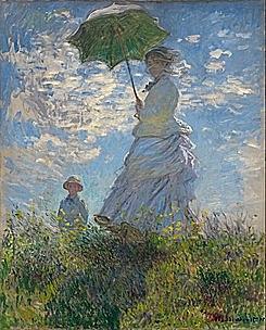 'Mujer con sombrilla' de Monet