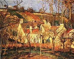 'El rincón de la aldea' de Pissarro