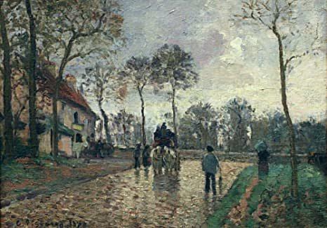'La diligencia en Louveciennes' de Pissarro