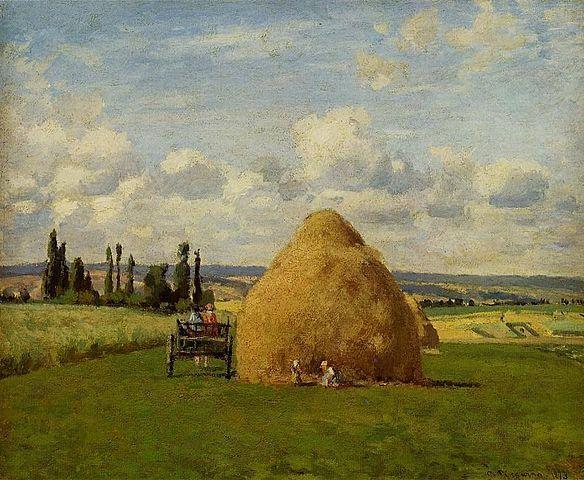 'El Almiar, Pontoise' de Pissarro