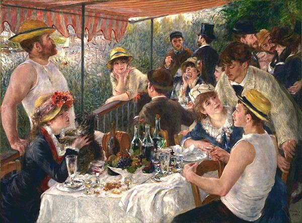 'El almuerzo de los remeros' de Renoir