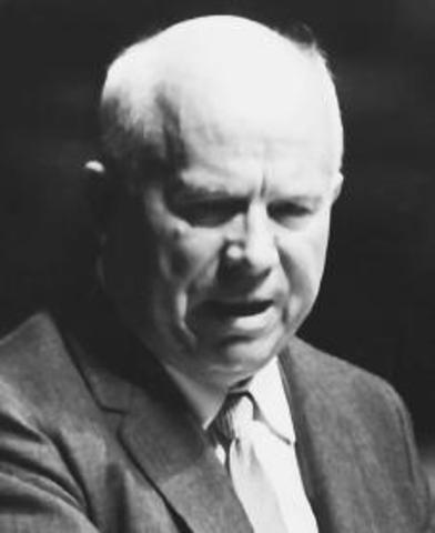 Nikita Khrushchev Becomes leader of Communist Party