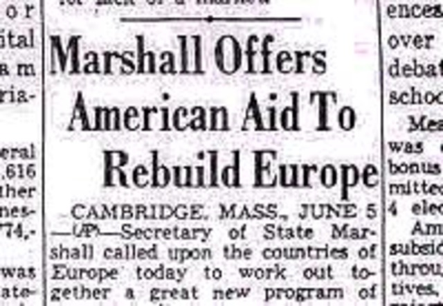american assistance in helping europe's economy
