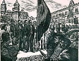 La entrada triunfal de Juárez