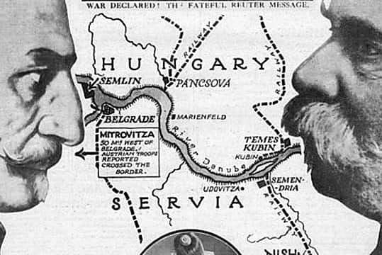 Àustria-Hongria declara la guerra a Rússia