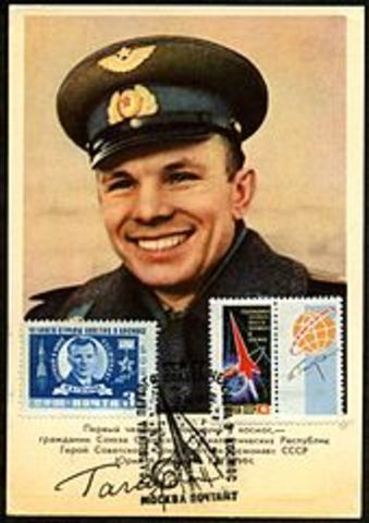 Yuri Gagarin becomes first human in outer-space