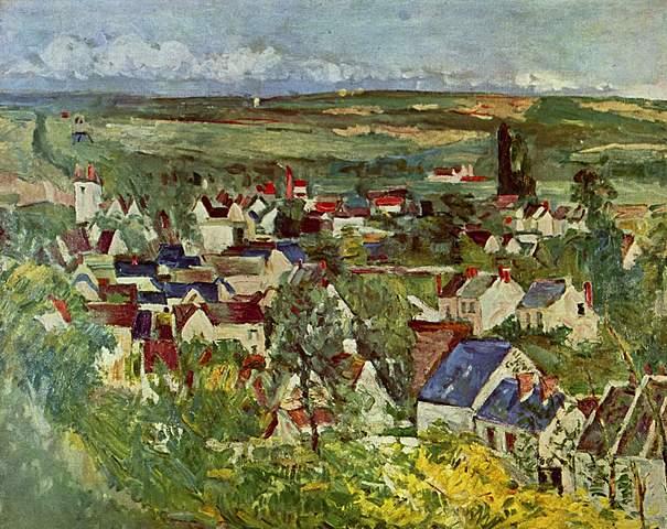 'Vista de Auvers' de Cézanne