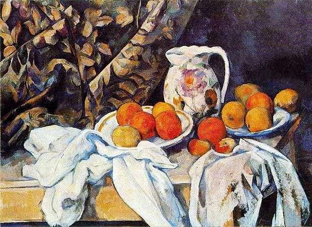 'Bodegón con cortina' de Cézanne
