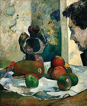 'Naturaleza muerta con perfil de Laval' de Gauguin