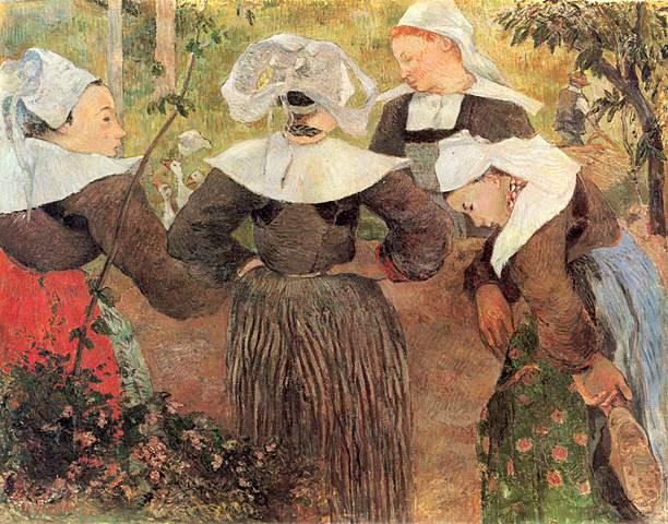 'Cuatro bretonas' de Gauguin