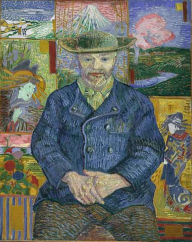 'Retrato de Pére Tanguy' de Van Gogh