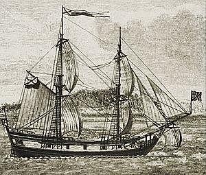 В 1740 году вышел к восточному побережью